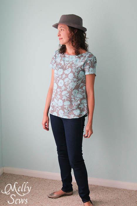 So stylish - Elegance and Elephants Fedora sewn by Melly Sews