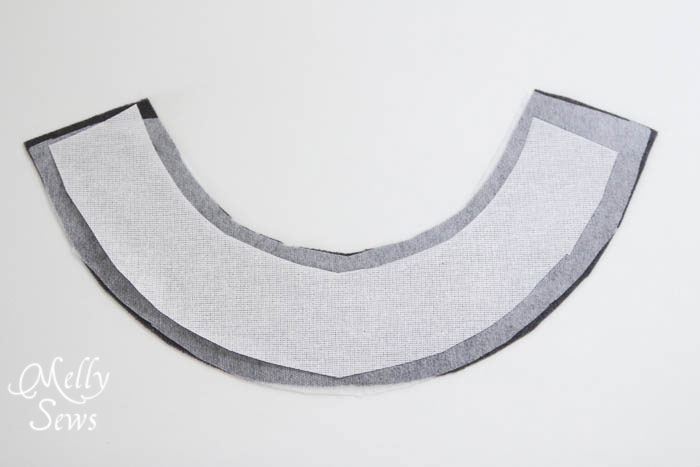 Using Buckram in Elegance and Elephants Fedora sewn by Melly Sews