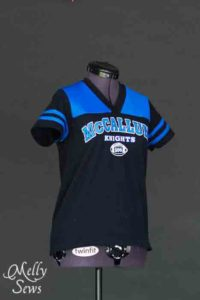 Super cute Football Jersey Tutorial with Free Pattern by Melly Sews