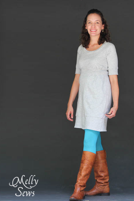 Little Changes make a big difference -Fit School - how to fit a raglan sleeve dress - Melly Sews