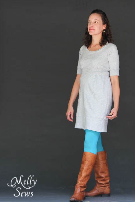 Alterations - how to fit a raglan sleeve dress - Melly Sews