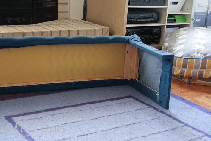 Genius - DIY Hearth Guard Tutorial - Melly Sews - Foam Mattress topper, lumber frame and fabric