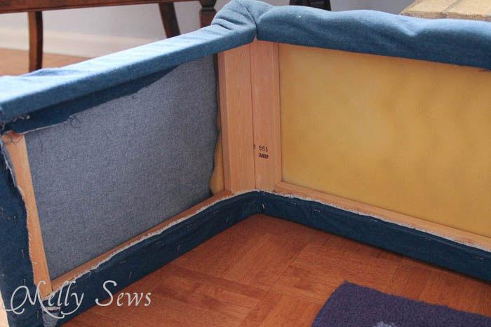 Corner view Hearth Guard Tutorial - Melly Sews