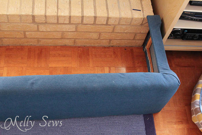 Top view of Hearth Guard Tutorial - Melly Sews