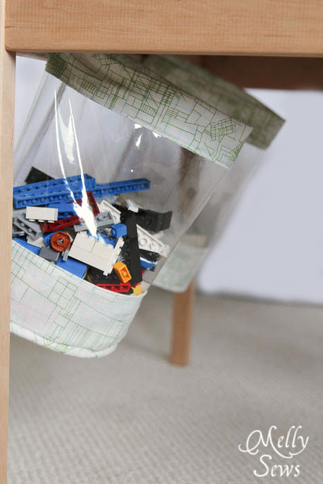 Fabric Storage Bucket Tutorial for under table storage - Melly Sews
