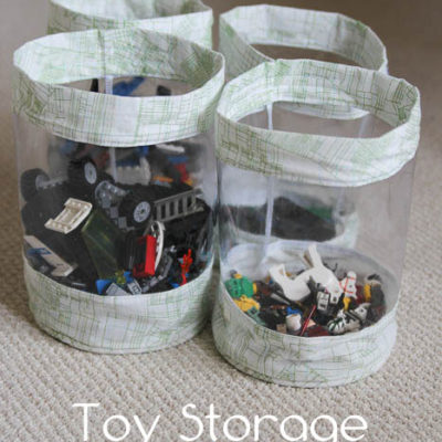Fabric Storage Bucket Tutorial for Toy Storage