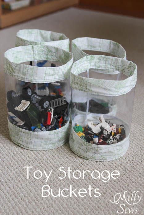 Toy Storage Bucket Tutorial - Melly Sews