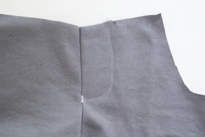 Step 4 - How to Sew a Mock Fly Tutorial