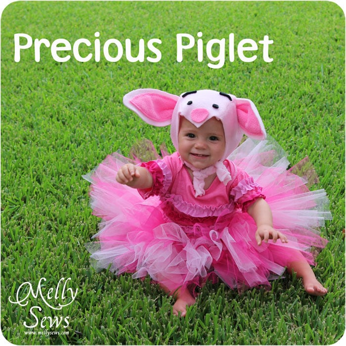 Piglet Costume Tutorial - http://mellysews.com #tutu #sewing #halloween