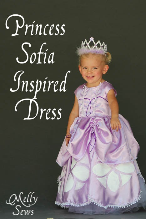 Inspired by Princess Sofia the First Dress Tutorial - Melly Sews