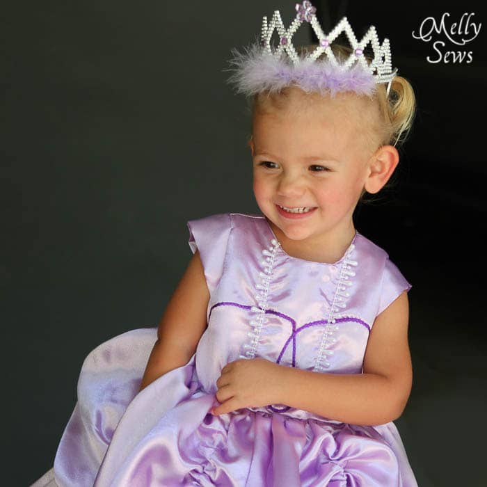 Pretty princess Inspired by Princess Sofia the First Dress Tutorial - Melly Sews