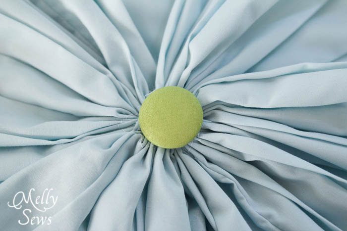 Step 4 - Round Pleated Pillow Tutorial - Melly Sews