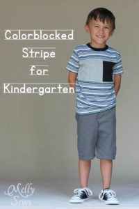 Sewing for Kindergarten - Tee Times Three and Clean Slate Shorts - Melly Sews