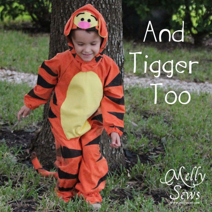 Tigger Costume Tutorial - https://mellysews.com #sewing #halloween