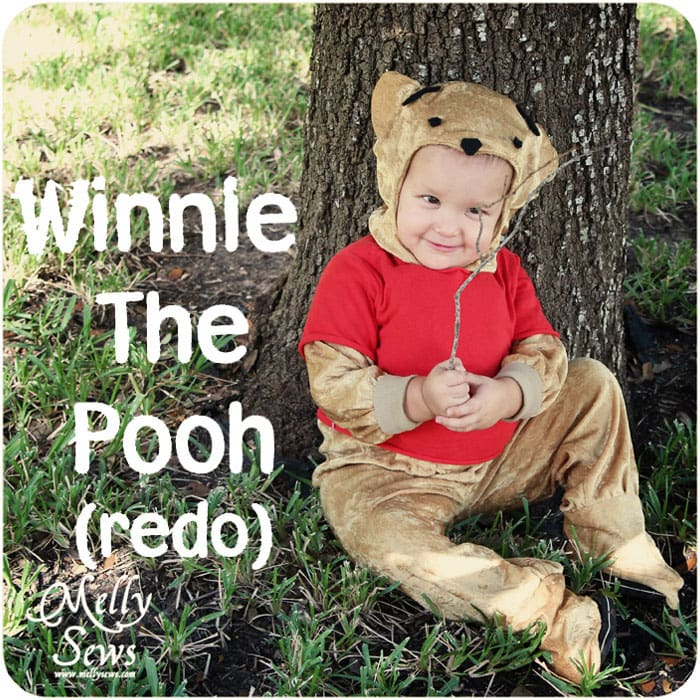 Winnie the Pooh Costume Tutorial - http://mellysews.com #sewing #halloween