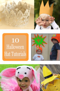 Halloween Hats are the easiest way to make or break a costume. Find 10 great tutorials here - Melly Sews