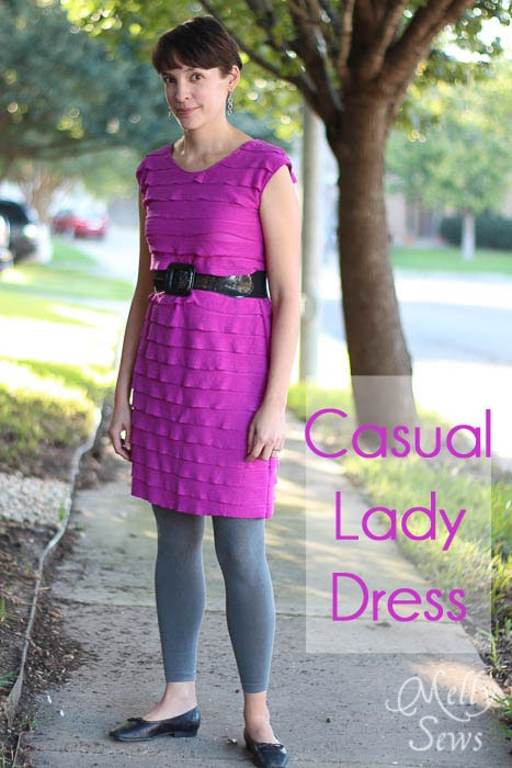 Casual Lady Dress by GoTo Patterns Sewn by Melly Sews