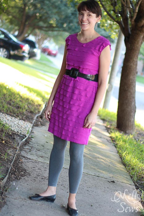 Ruffled Fabric for Casual Lady Dress by GoTo Patterns Sewn by Melly Sews