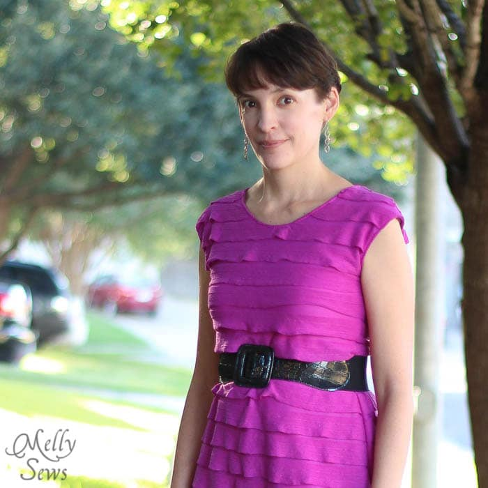 Close up of Casual Lady Dress by GoTo Patterns Sewn by Melly Sews