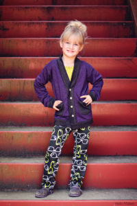 Cool Cardigan pattern by Blank Slate Patterns sewn by Alida Makes