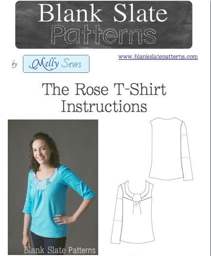 Rose T-shirt - Women's PDF sewing Pattern by Blank Slate Patterns
