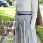 Pleated Paper Bag Waist Skirt Tutorial - Melly Sews #diy #sewing #tutorial