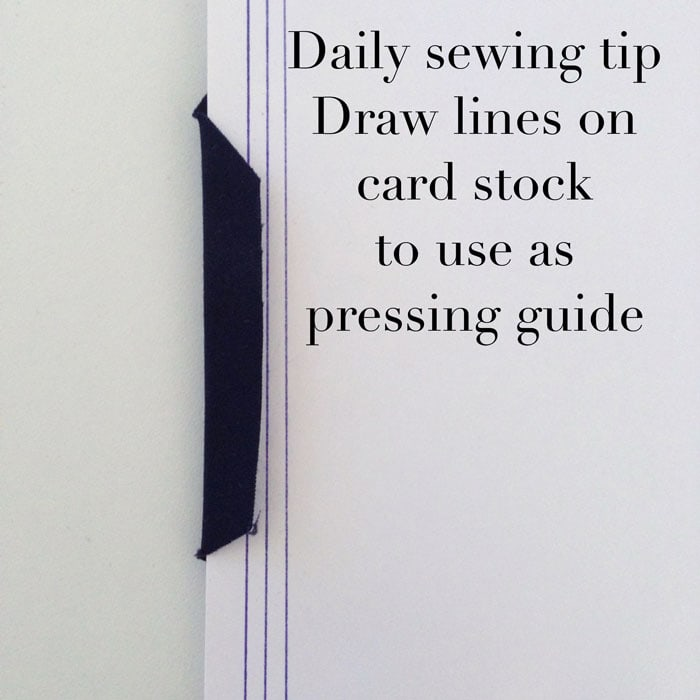 Pressing guide - daily sewing tip - follow @mellysews on Instagram for more