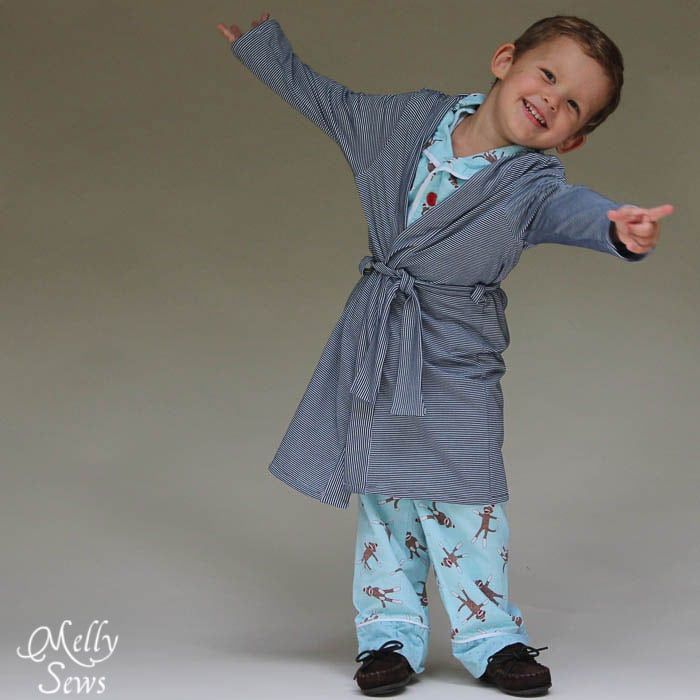 So cute  Sleepy Robe  Free Pattern and Tutorial for Childrens Robe