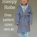 Sleepy Robe - Free Pattern and Tutorial for Children's Robe Sizes 18m-8 - Melly Sews #sewing #kids #tutorial #diy