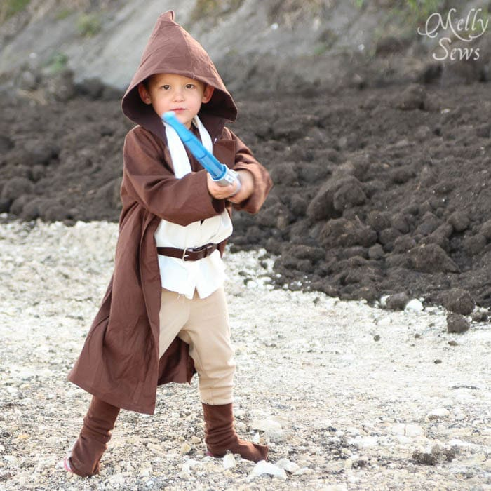 DIY Kids Obi Wan Kenobi Costume - Melly Sews