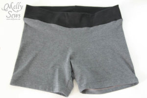 I'm doing this to a bunch of my shorts - Yoga waist tutorial - http://mellysews.com