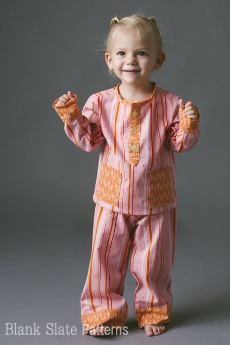 Adorable toddler pajamas - PDF Sewing Pattern for boys and girls by Blank Slate Patterns