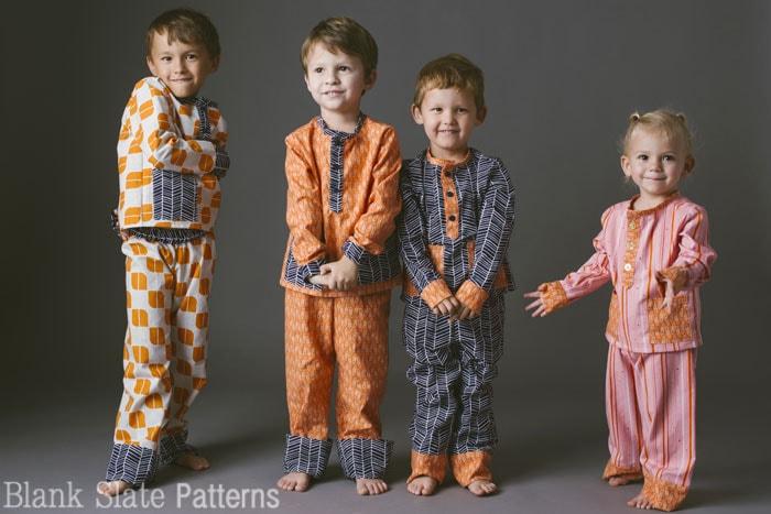 Pocket Pyjamas - PDF Sewing Pattern for boys and girls by Blank Slate Patterns