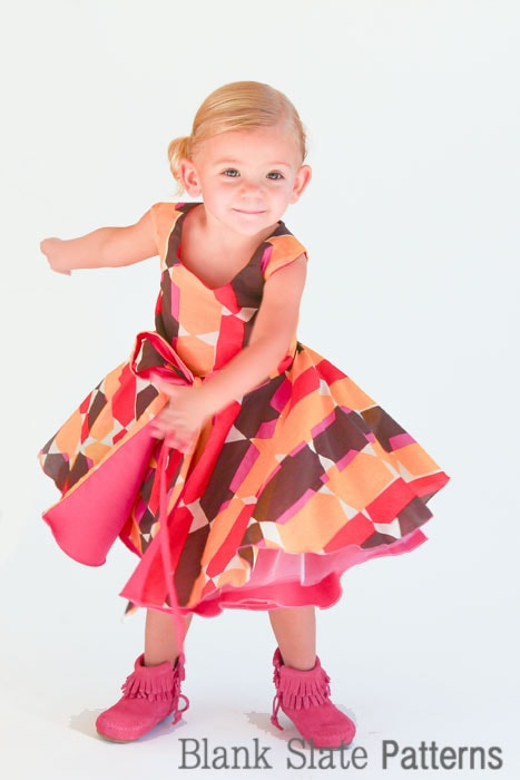 Get ready to party in Amaryllis Dress PDF Sewing Pattern by Blank Slate Patterns