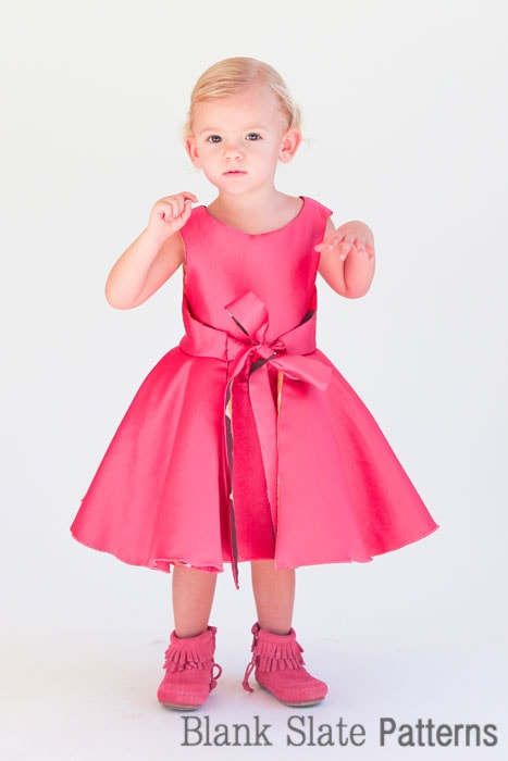 Pretty in Pink wearing the Amaryllis Dress PDF Sewing Pattern by Blank Slate Patterns