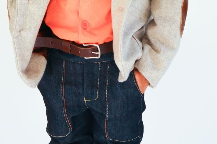 Boys leather belt by One LIttle Belt