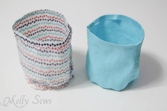 Hanging Cup Holder Tutorial - Melly Sews - #sewing #diy