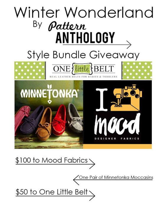 Win a great prize pack from Mood Designer Fabrics, Minnetonka Moccasin and One Little Belt