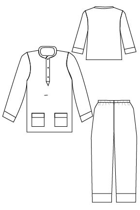 Line Drawing - PDF Sewing Pattern for boys and girls by Blank Slate Patterns