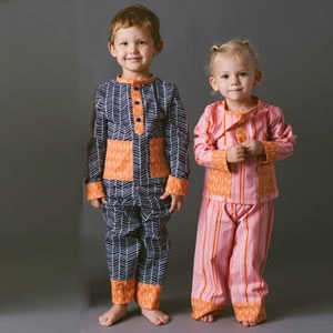 Square - Pocket Pajamas - PDF Sewing Pattern for boys and girls by Blank Slate Patterns