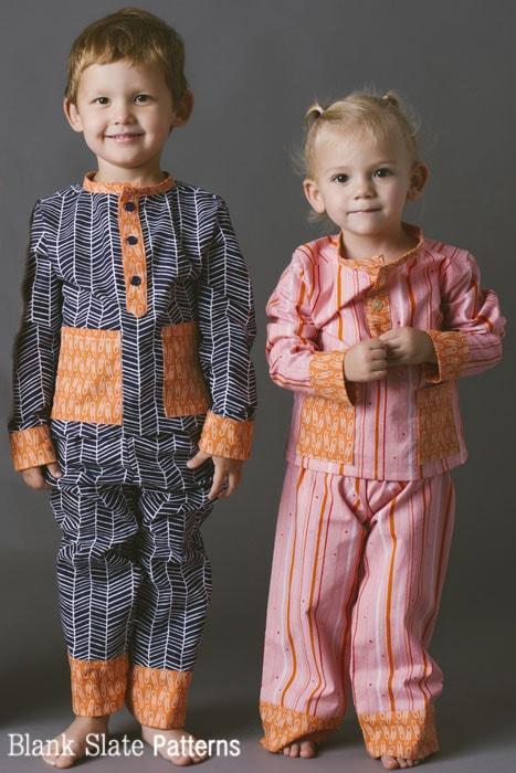 Pocket PJs - PDF Sewing Pattern for boys and girls by Blank Slate Patterns