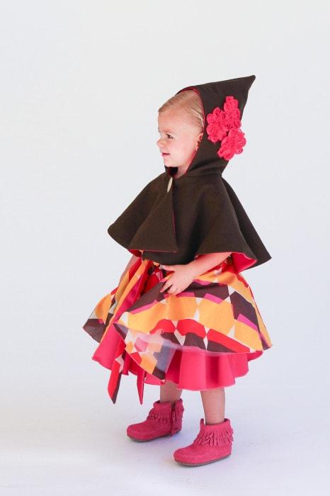 Juliet Capelet over Amaryllis Dress - Pattern Anthology Patterns - Melly Sews