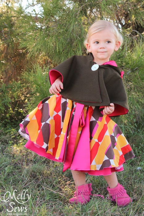 Dancing in the Amaryllis Dress pattern by Blank Slate Patterns - Kids Holiday Style Tips - Melly Sews