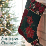 Appliqued Stockings - Free Christmas Stocking Pattern - Melly Sews #holiday #Christmas #DIY #sewing