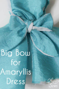 Make a sash into a bigger bow - use for the Amaryllis Dress - Melly Sews