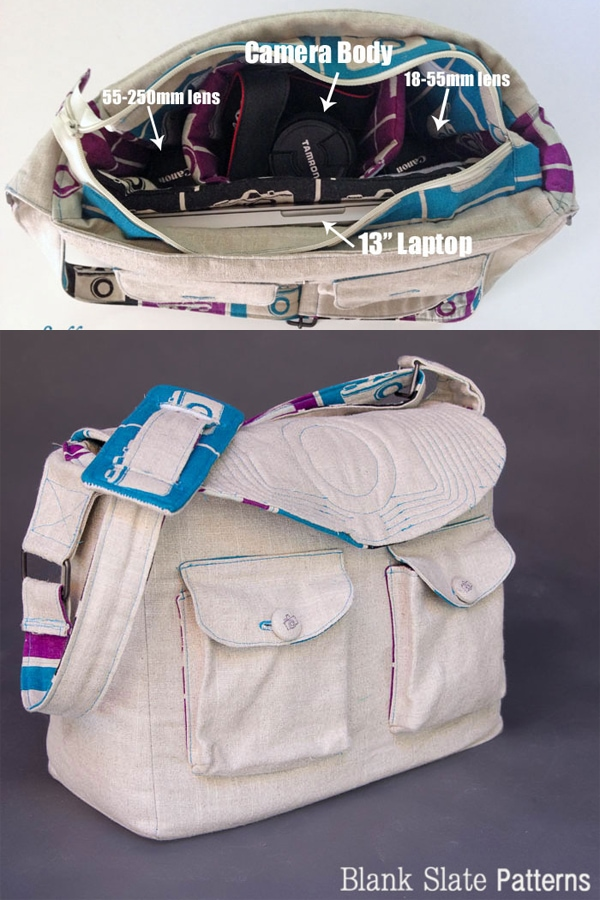 Quilted Camera Bag PDF Sewing Pattern by Blank Slate Patterns