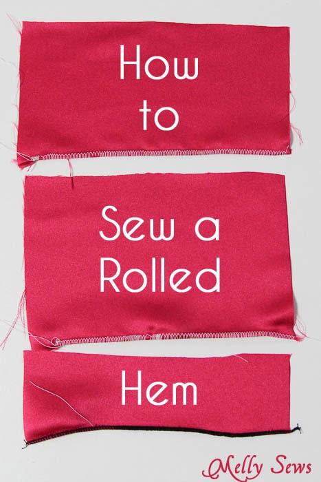 how to sew a rolled hem melly sews. Black Bedroom Furniture Sets. Home Design Ideas