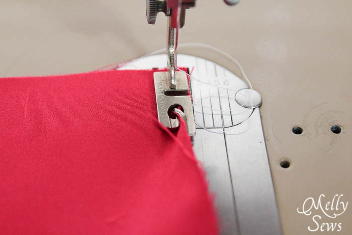 Rolled Hem with a Hem Foot - Melly Sews