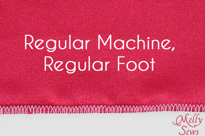Rolled Hem with a Regular Machine Foot