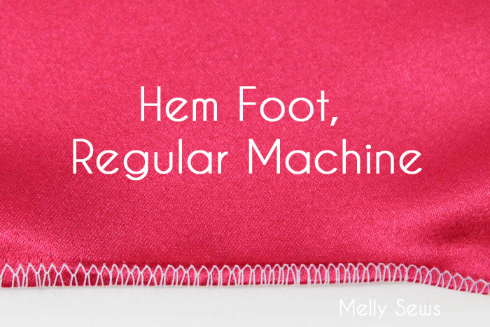 Rolled Hem with a Hem foot